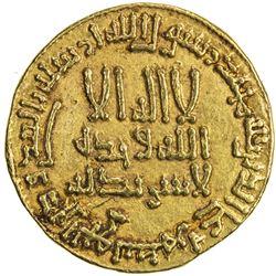 ABBASID: al-Mansur (754-775/136-158 AH), AU dinar, A-212, bold EF