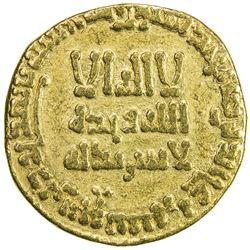ABBASID: al-Mahdi, 775-785, AV dinar (4.02g), NM, AH160. VF