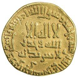 ABBASID: al-Mahdi, 775-785, AV dinar (3.85g), NM, AH167. F-VF