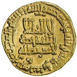 ABBASID: al-Rashid, 786-809, AV dinar (4.25g), NM (Madinat al-Salam), AH191. EF