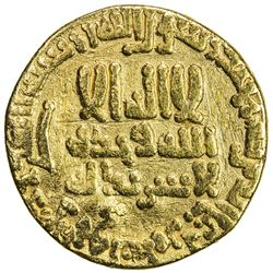ABBASID: al-Rashid, 786-809, AV dinar (3.85g), NM (Egypt), AH189. F