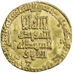 ABBASID: al-Ma'mun, 810-833, AV dinar (4.14g), NM, AH199. VF