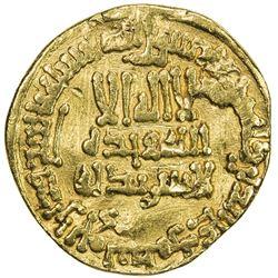 ABBASID: al-Ma'mun, 810-833, AV dinar (4.04g), NM, AH200. VF