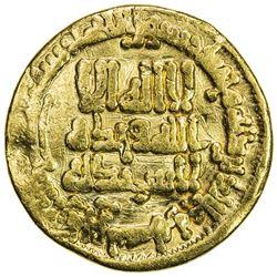 ABBASID: al-Ma'mun, 810-833, AV dinar (4.21g), NM, AH205. VF