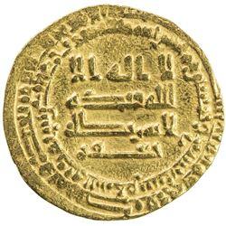ABBASID: al-Mu'tamid, 870-892, AV dinar (4.01g), Madinat al-Salam, AH259. F-VF