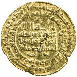 ABBASID: al-Muqtadir, 908-932, AV dinar (4.46g), al-Muhammadiya, AH313. VF