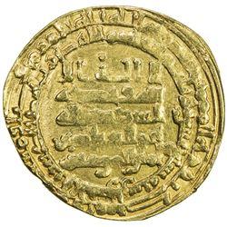 ABBASID: al-Muqtadir, 908-932, AV dinar (3.86g), al-Ahwaz, AH317. VF
