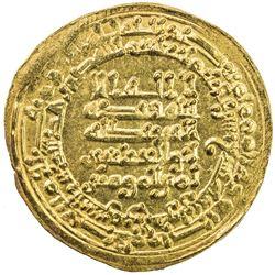 ABBASID: al-Muqtadir, 908-932, AV dinar (4.71g), Tustar min al-Ahwaz, AH319. EF-AU