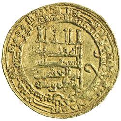 ABBASID: al-Muqtadir, 908-932, AV dinar (4.32g), Tustar min al-Ahwaz, AH319. VF