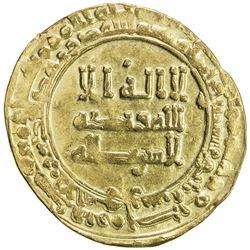 ABBASID: al-Radi, 934-940, AV dinar (3.00g), al-Ahwaz, AH323. VF