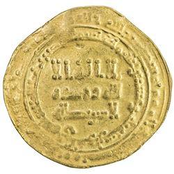 ABBASID: al-Radi, 934-940, AV dinar (3.98g), Suq al-Ahwaz, AH323. VF