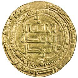 ABBASID: al-Radi, 934-940, AV dinar (3.52g), Suq al-Ahwaz, AH324. VF