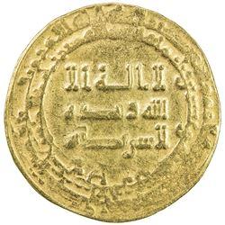ABBASID: al-Radi, 934-940, AV dinar (6.37g), Tustar min al-Ahwaz, AH323. VF