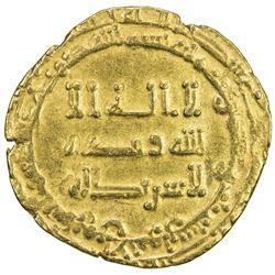 ABBASID: al-Radi, 934-940, AV dinar (3.92g), Tustar min al-Ahwaz, AH323. VF