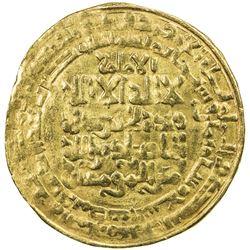 ABBASID: al-Nasir, 1180-1225, AV dinar (5.30g), Madinat al-Salam, AH608. VF