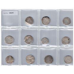 ABBASID: LOT of 11 scarce silver dirhams