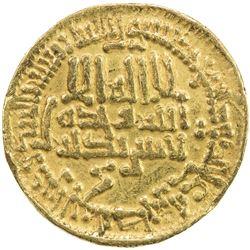 AGHLABID: Muhammad II, 864-874, AV dinar (4.22g), NM, AH258. VF