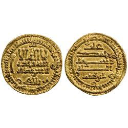 AGHLABID: Ibrahim II, 874-902, AV dinar (4.20g), NM, AH267. VF-EF