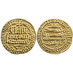AGHLABID: Ibrahim II, 874-902, AV dinar (4.22g), NM, AH269. EF
