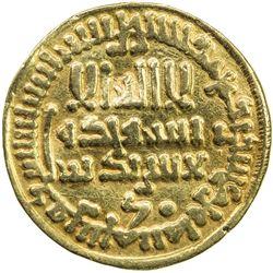 AGHLABID: Ibrahim II, 874-902, AV dinar (4.02g), NM, AH286. VF