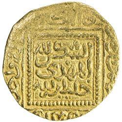 HAFSID: Abu Faris 'Abd al-'Aziz II, 1394-1434, AV 1/2 dinar (2.38g), NM, ND. EF