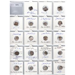 SA'DIAN SHARIF: LOT of 14 silver dirhams of the Sa'dian Sharifs & 2 of the Interregnum