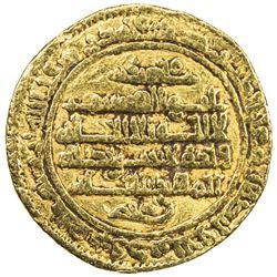 FATIMID: al-Qa'im, 934-946, AV dinar (4.18g), al-Mahdiya, AH325. VF