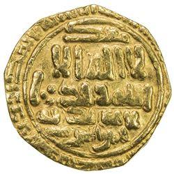 FATIMID: al-Mu'izz, 953-975, AV dinar (3.61g), [Sijilmasa], AH357. VF