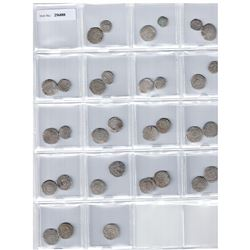 FATIMID: al-'Aziz, 975-996, LOT of 32 silver coins, mostly half dirhams