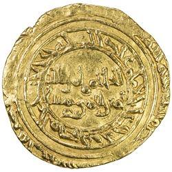 FATIMID: al-Hakim, 996-1021, AV dinar (4.13g), al-Mansuriya, DM. VF