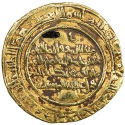 FATIMID: al-Hakim, 996-1021, AV dinar (4.11g), al-Mansuriya, AH412. VF