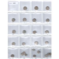 FATIMID: al-Hakim, 996-1021, LOT of 25 silver coins, mostly half dirhams