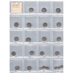 FATIMID: al-Hakim, 996-1021, LOT of 24 silver coins, mostly half dirhams