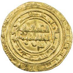 FATIMID: al-Zahir, 1021-1036, AV dinar (3.97g), al-Mahdiya, AH420. VF