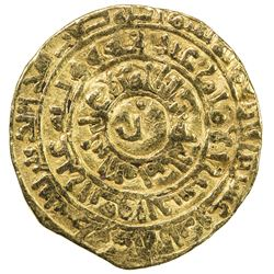 FATIMID: al-Zahir, 1021-1036, AV dinar (4.12g), Filastin, AH423. F-VF