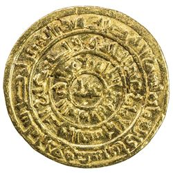 FATIMID: al-Zahir, 1021-1036, AV dinar (4.25g), Misr, AH424. VF