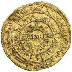 FATIMID: al-Zahir, 1021-1036, AV dinar (4.03g), Misr, AH425. VF