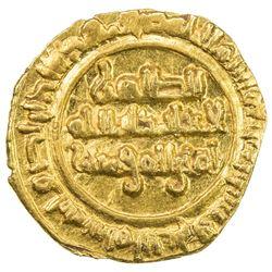 FATIMID: al-Zahir, 1021-1036, AV 1/4 dinar (0.95g), Siqilliya, AH422. AU