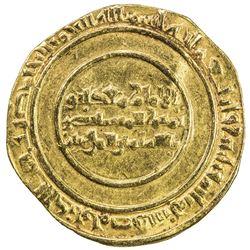 FATIMID: al-Mustansir, 1036-1094, AV dinar (3.91g), Misr, AH433. VF