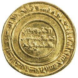 FATIMID: al-Mustansir, 1036-1094, AV dinar (4.35g), Sur (Tyre), AH435. VF-EF