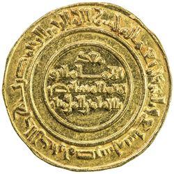 FATIMID: al-Mustansir, 1036-1094, AV dinar (4.26g), Misr, AH437. AU