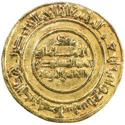 FATIMID: al-Mustansir, 1036-1094, AV dinar (4.17g), Sur (Tyre), AH437. VF-EF