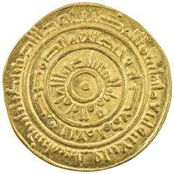 FATIMID: al-Mustansir, 1036-1094, AV dinar (3.84g), Tarabulus (Trablus), AH446. EF