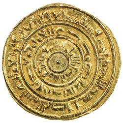 FATIMID: al-Mustansir, 1036-1094, AV dinar (4.34g), Sur (Tyre), AH447. EF