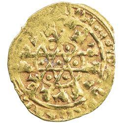 FATIMID: al-Mustansir, 1036-1094, AV 1/4 dinar (1.00g) (Siqilliya), DM. VF