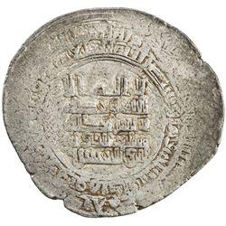 HAMDANID: Nasir al-Dawla & Sayf al-Dawla, 942-967, AR dirham (5.76g), Hims, AH(35)3. VF