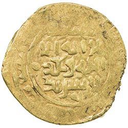 GREAT MONGOLS: temp. Ogedei, 1227-1241, AV dinar (6.00g), Samarqand, AH(6)25. VF