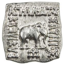 INDO-GREEK: Apollodotus I, ca. 180-160 BC, AE square drachm (2.41g). EF-AU