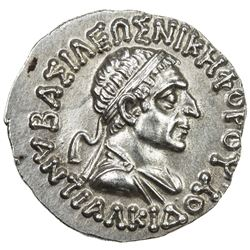 INDO-GREEK: Antialkides, ca. 115-95 BC, AE drachm (2.48g). EF-AU
