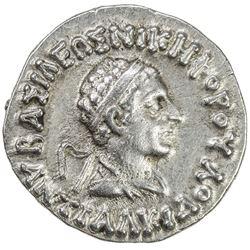 INDO-GREEK: Antialkides, ca. 115-95 BC, AE drachm (2.47g). EF-AU